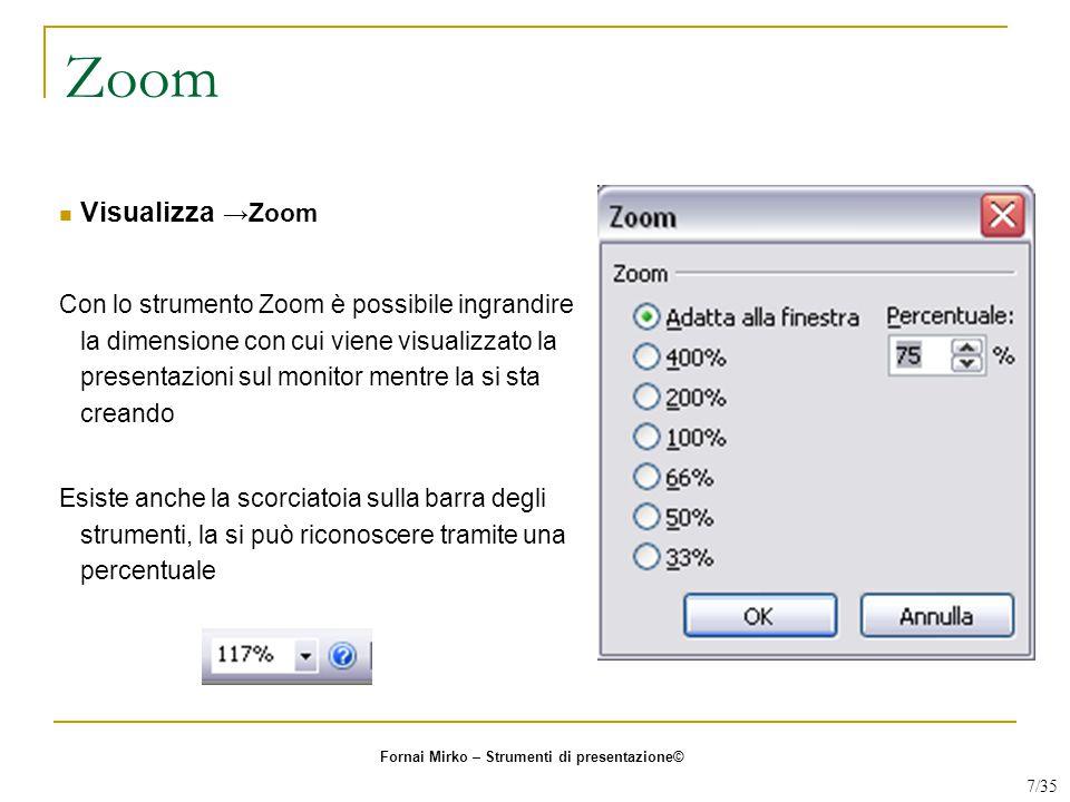 Zoom Visualizza →Zoom.