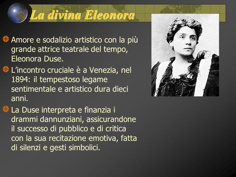 La divina Eleonora Amore e sodalizio artistico con la più grande attrice teatrale del tempo, Eleonora Duse.