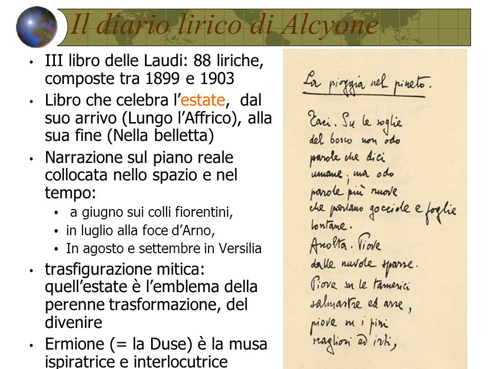 Il diario lirico di Alcyone