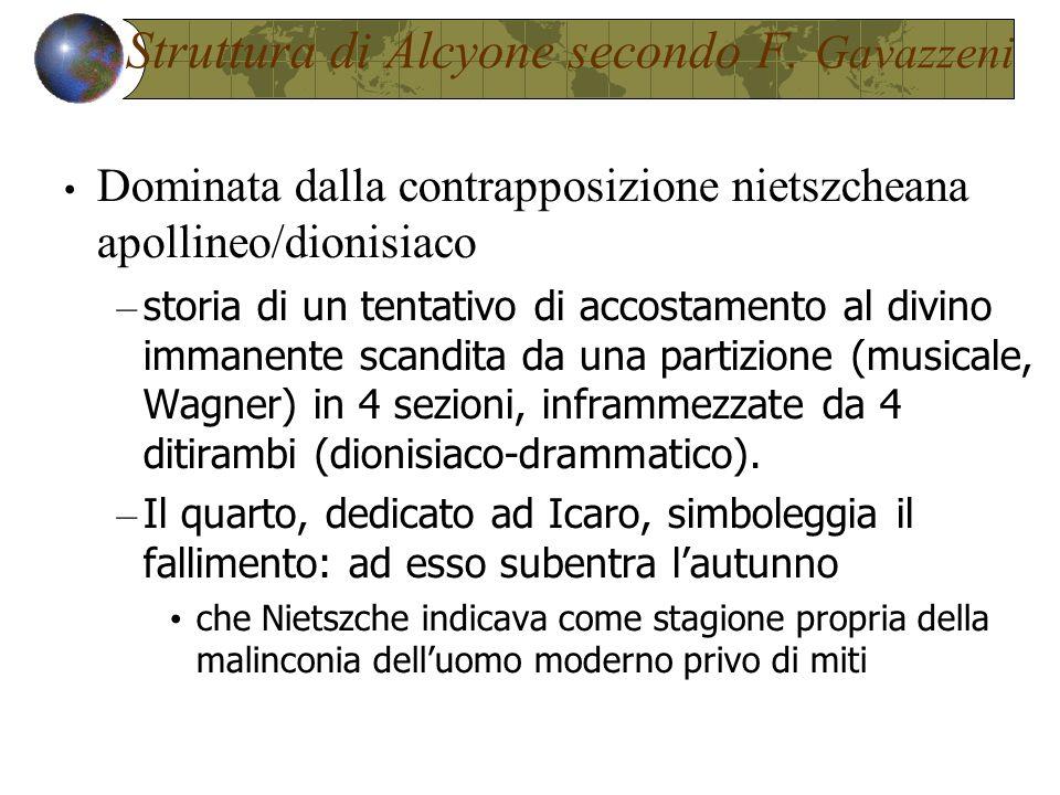 Struttura di Alcyone secondo F. Gavazzeni