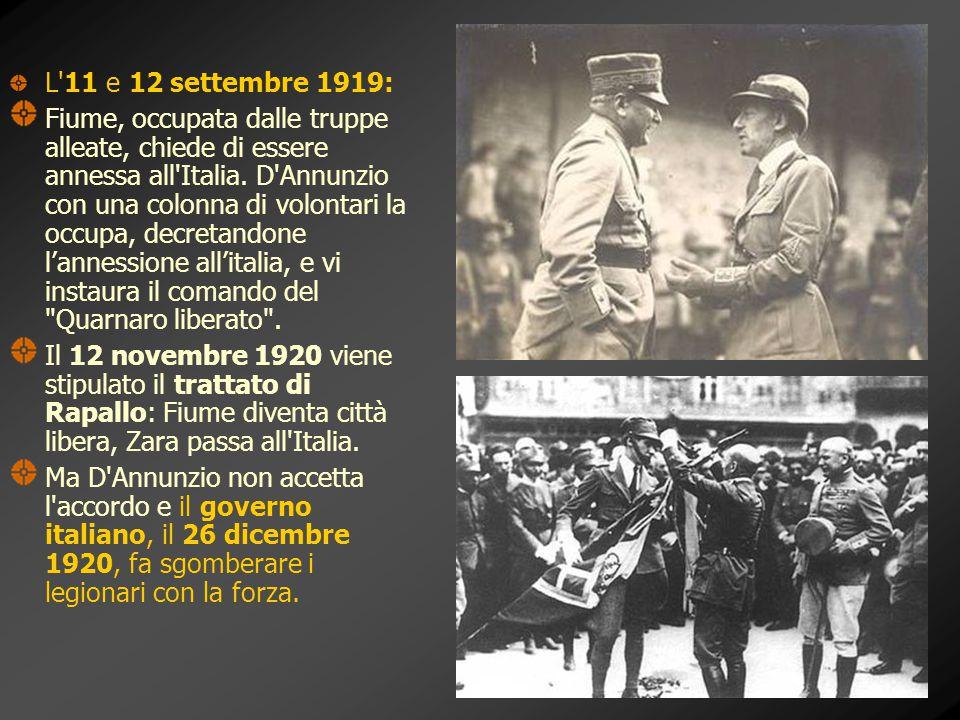 L 11 e 12 settembre 1919: