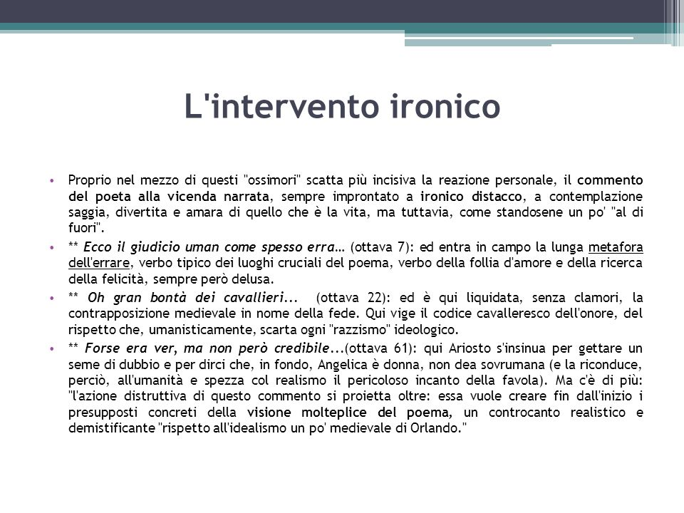 L intervento ironico