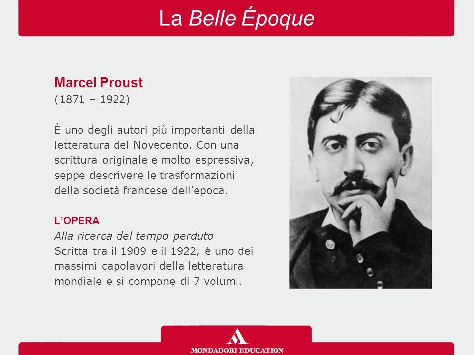 La Belle Époque Marcel Proust (1871 – 1922)
