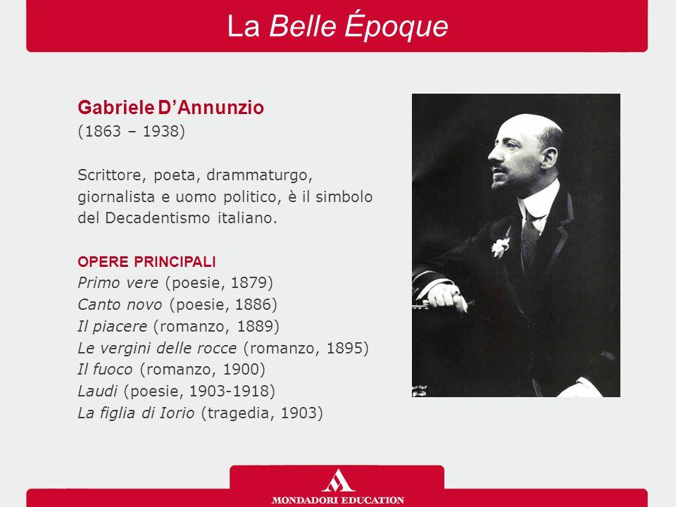La Belle Époque Gabriele D'Annunzio (1863 – 1938)