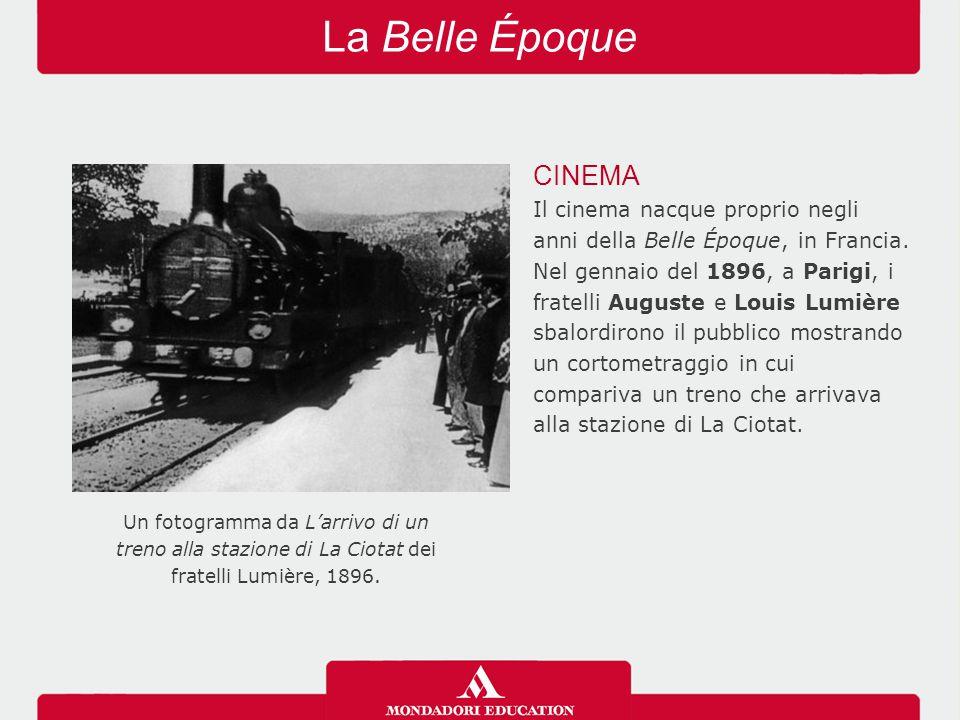 La Belle Époque CINEMA. Il cinema nacque proprio negli anni della Belle Époque, in Francia.