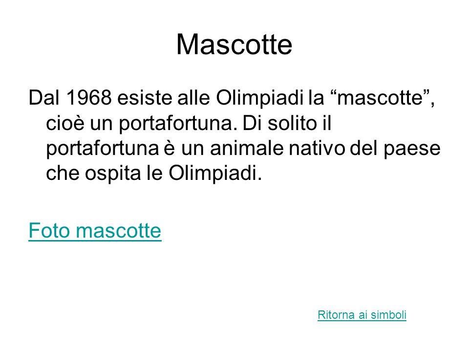 Medaglie Nelle Olimpiadi antiche il vincitore riceveva una corona d'ulivo. Oggi invece si ricevono medaglie: