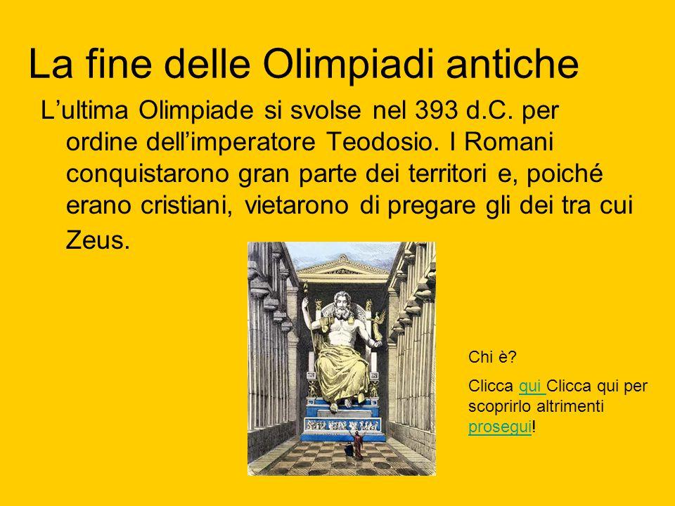 La fine delle Olimpiadi antiche