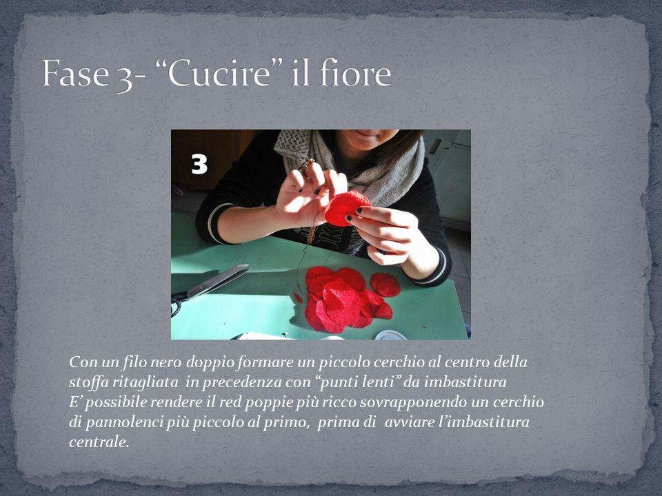 Fase 3- Cucire il fiore