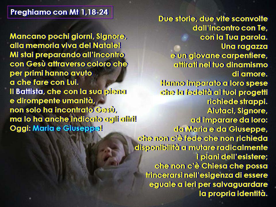 Preghiamo con Mt 1,18-24