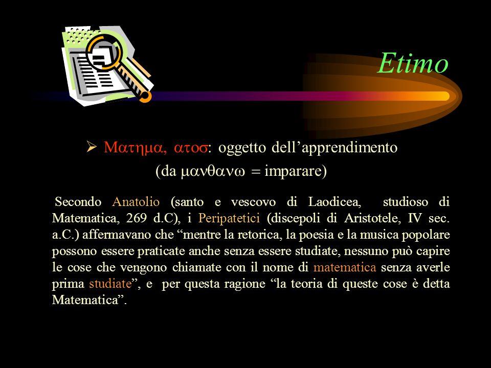 Etimo Mathma, atos: oggetto dell'apprendimento (da mananw = imparare)
