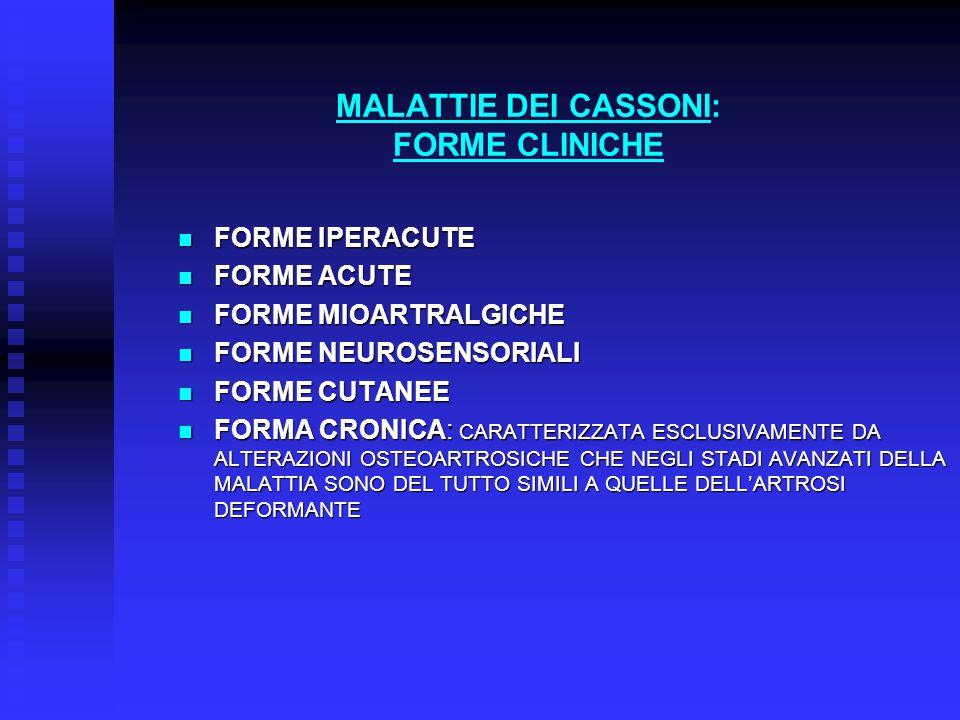 MALATTIE DEI CASSONI: FORME CLINICHE
