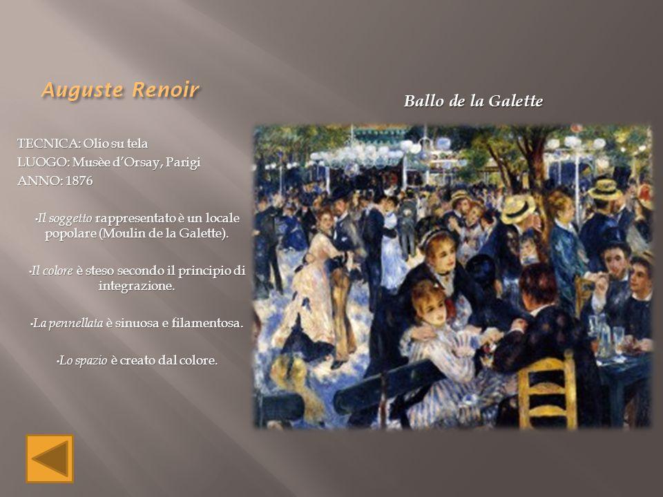 Auguste Renoir Ballo de la Galette TECNICA: Olio su tela