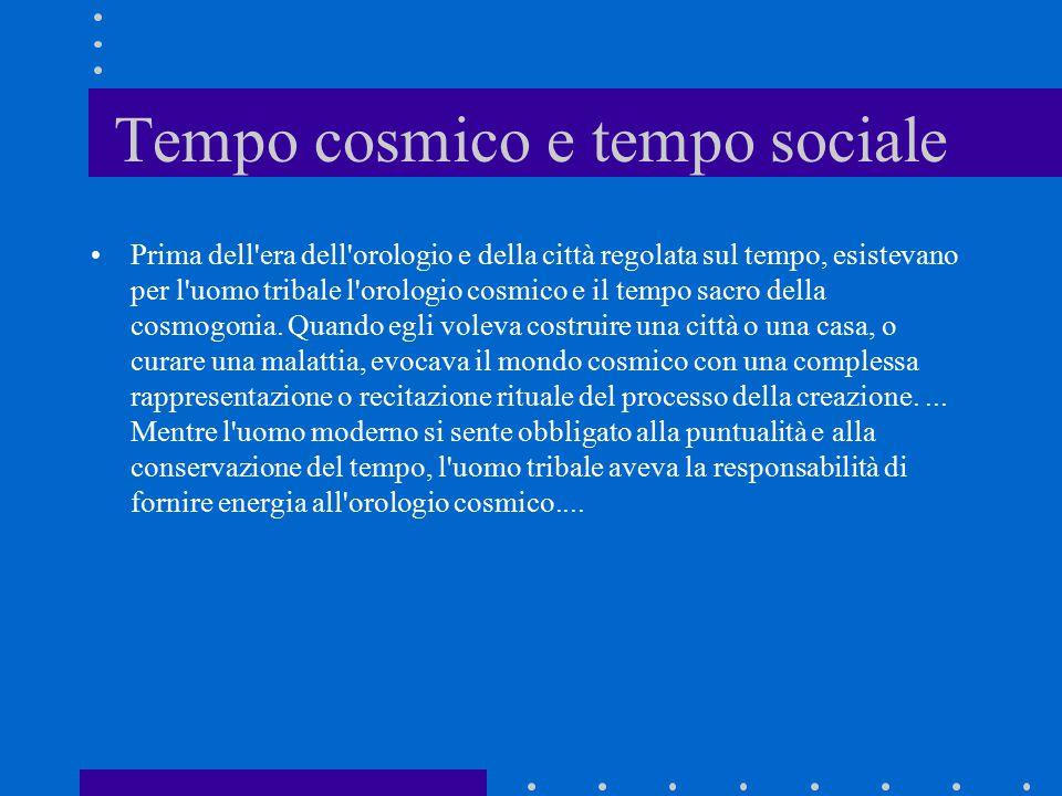 Tempo cosmico e tempo sociale