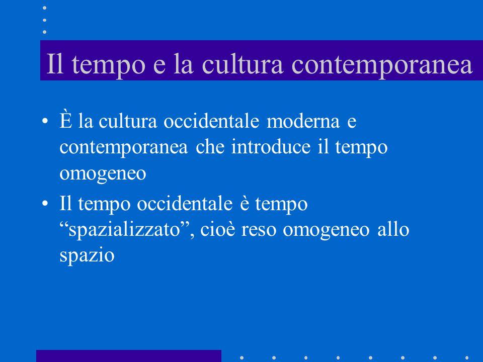 Il tempo e la cultura contemporanea