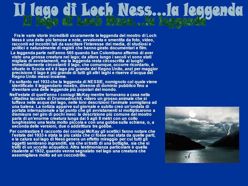 Il lago di Loch Ness...la leggenda