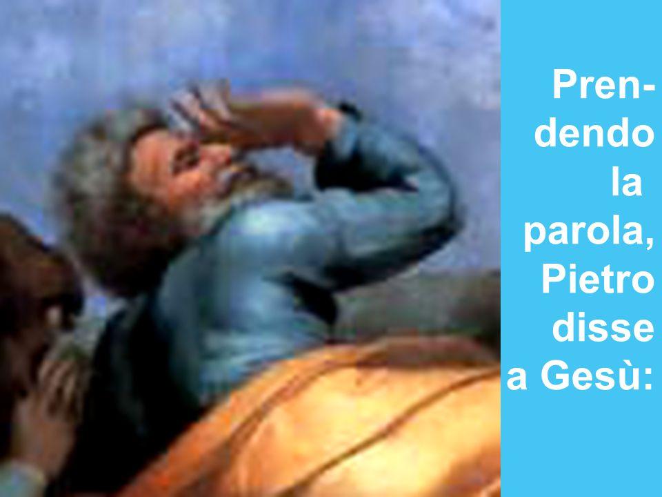 Pren- dendo la parola, Pietro disse a Gesù: