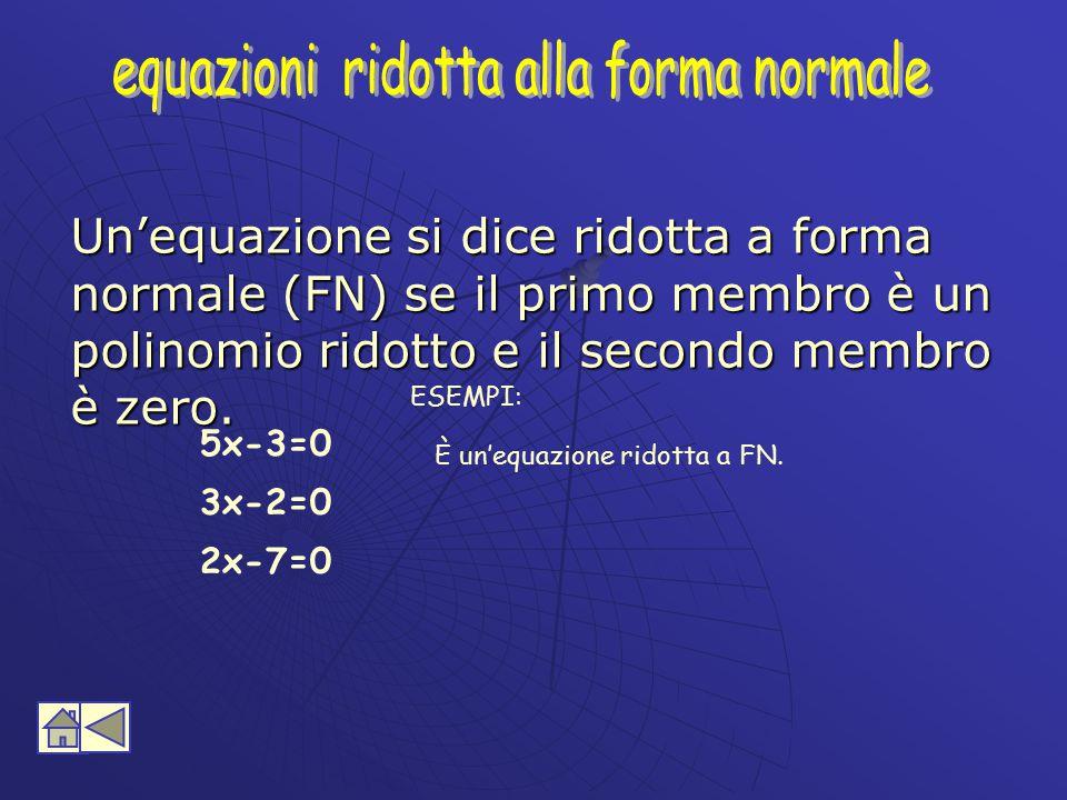 equazioni ridotta alla forma normale