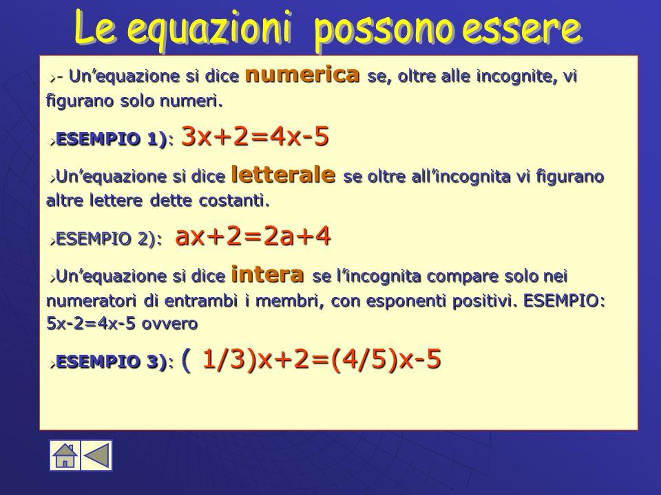 Le equazioni possono essere