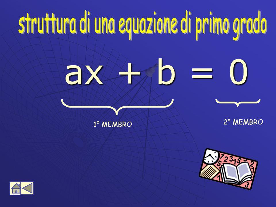 struttura di una equazione di primo grado