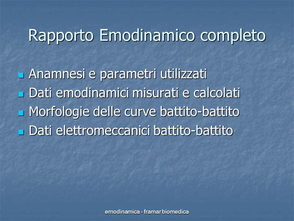 Rapporto Emodinamico completo