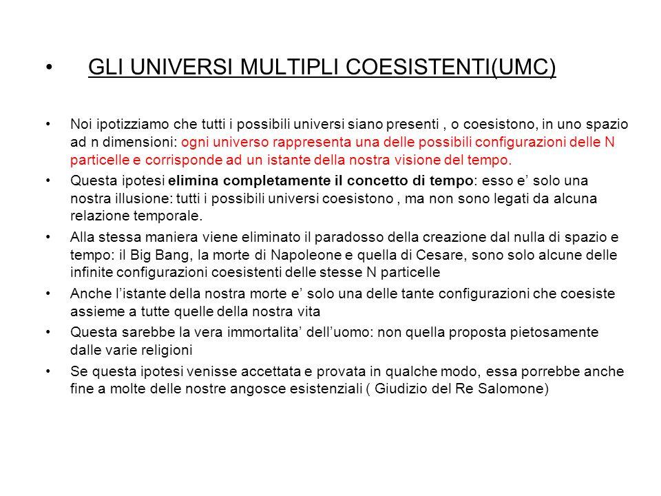 GLI UNIVERSI MULTIPLI COESISTENTI(UMC)
