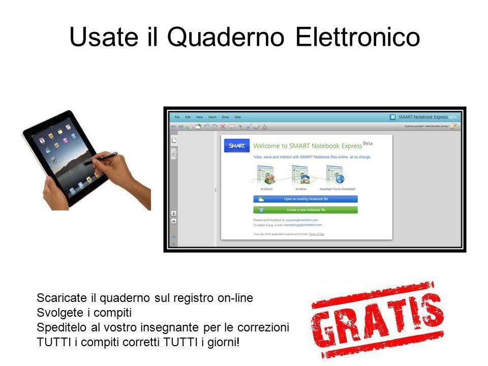 Usate il Quaderno Elettronico
