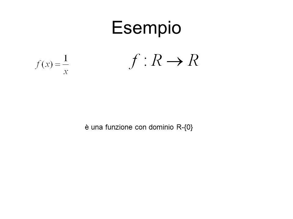 Esempio è una funzione con dominio R-{0}