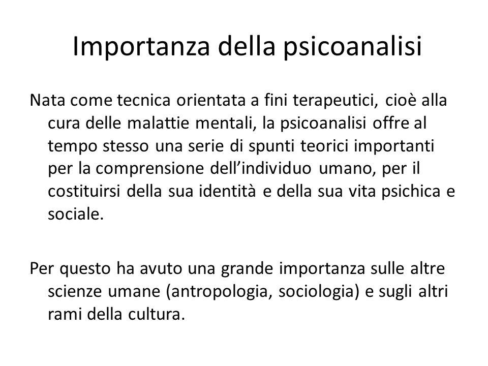Importanza della psicoanalisi