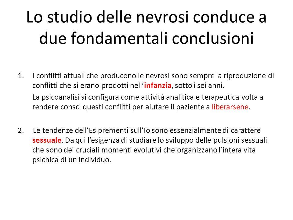 Lo studio delle nevrosi conduce a due fondamentali conclusioni