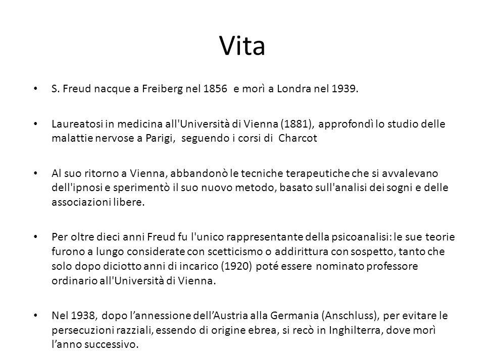 Vita S. Freud nacque a Freiberg nel 1856 e morì a Londra nel 1939.