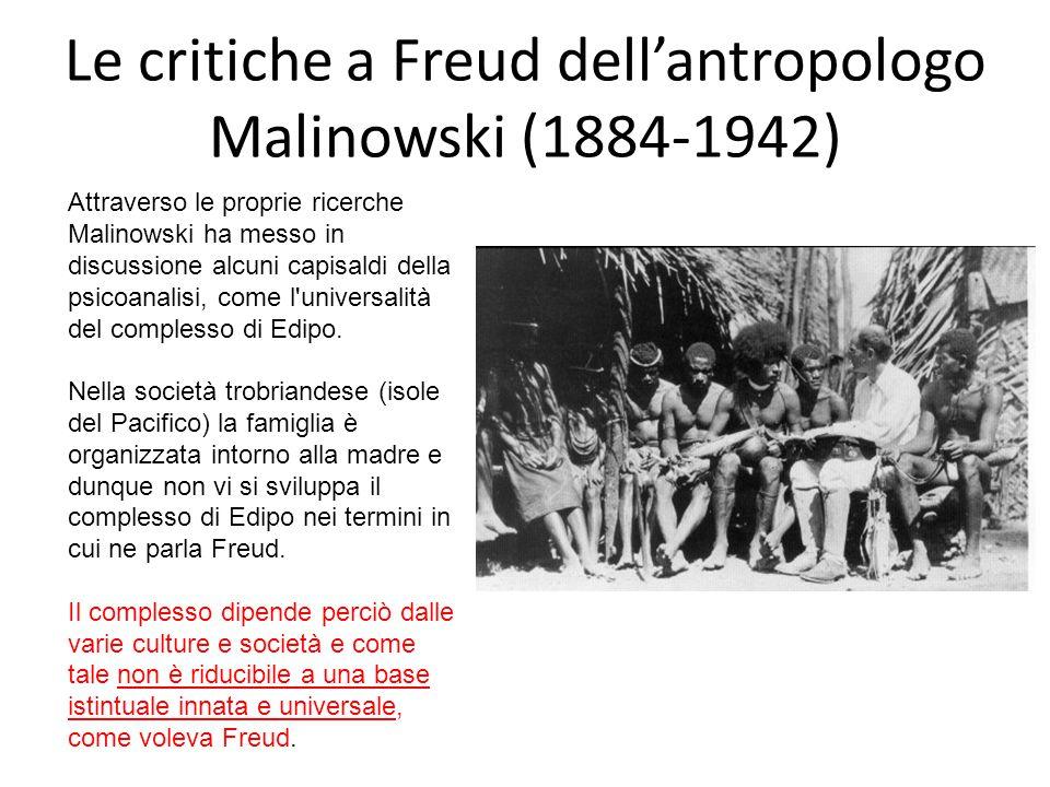 Le critiche a Freud dell'antropologo Malinowski (1884-1942)