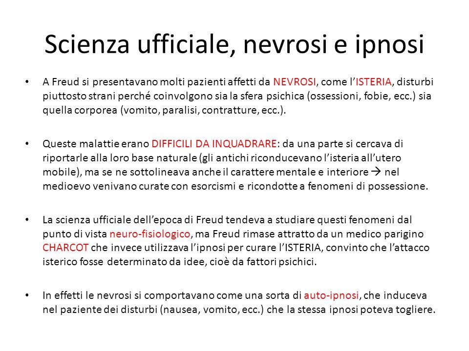 Scienza ufficiale, nevrosi e ipnosi