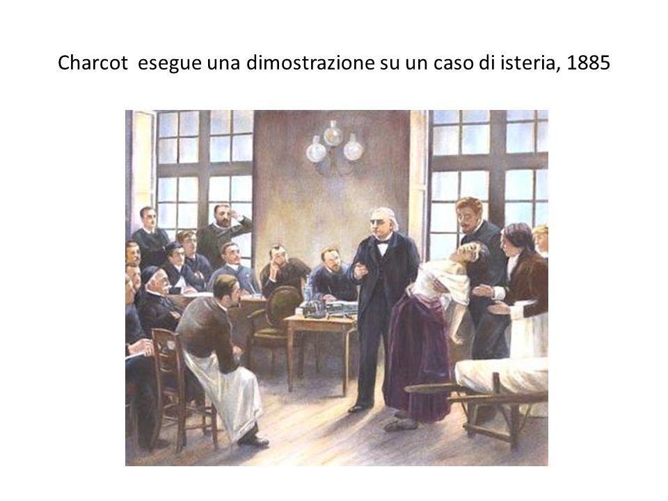 Charcot esegue una dimostrazione su un caso di isteria, 1885