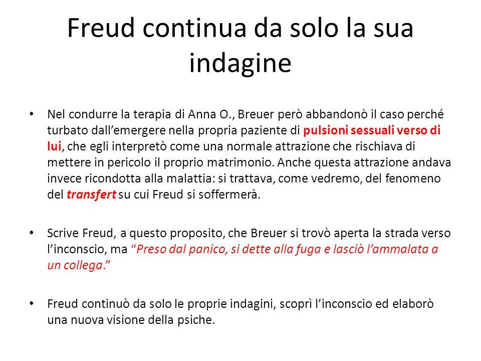 Freud continua da solo la sua indagine