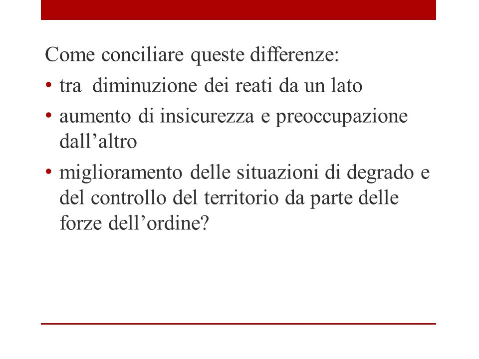 Come conciliare queste differenze: