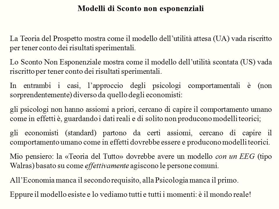 Modelli di Sconto non esponenziali