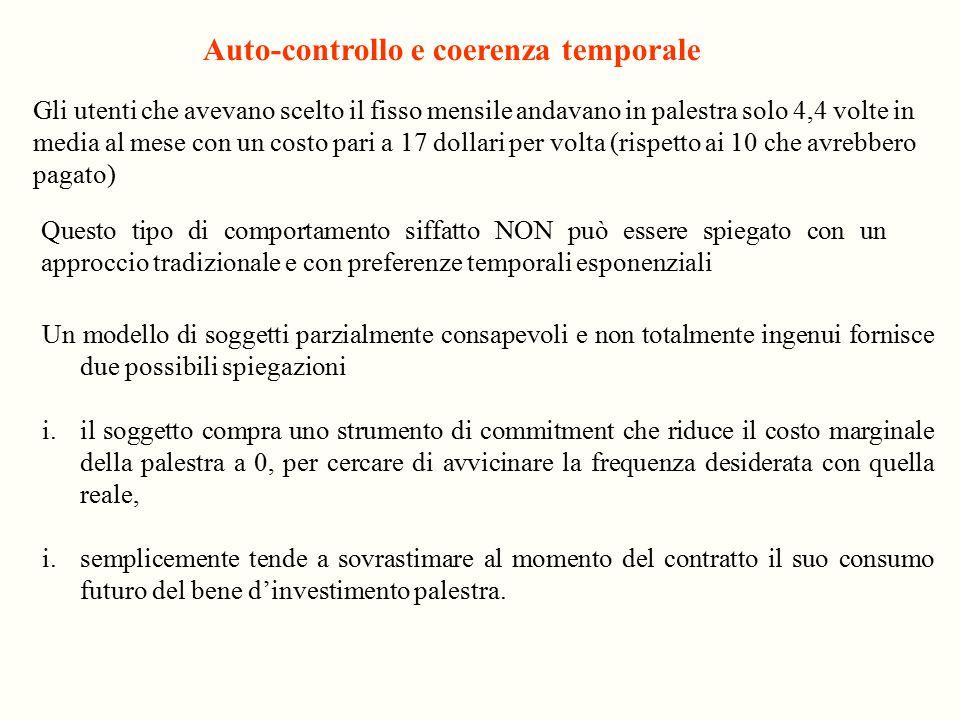 Auto-controllo e coerenza temporale