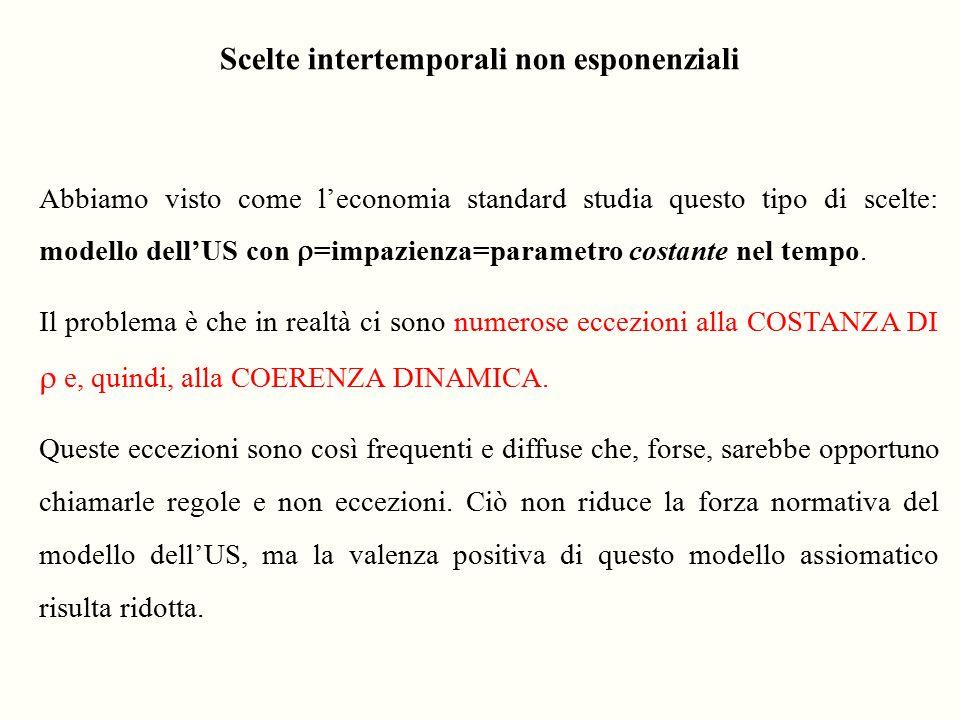 Scelte intertemporali non esponenziali
