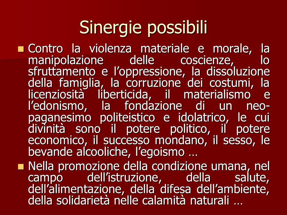 Sinergie possibili