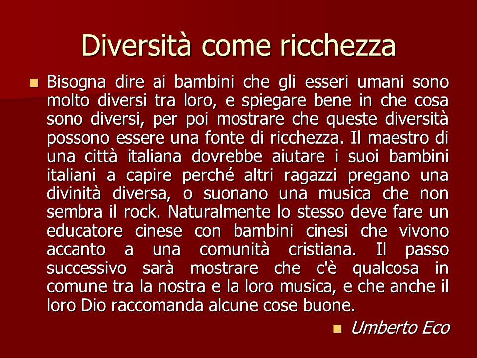 Diversità come ricchezza