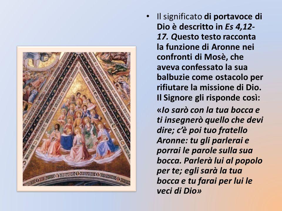 Il significato di portavoce di Dio è descritto in Es 4,12-17