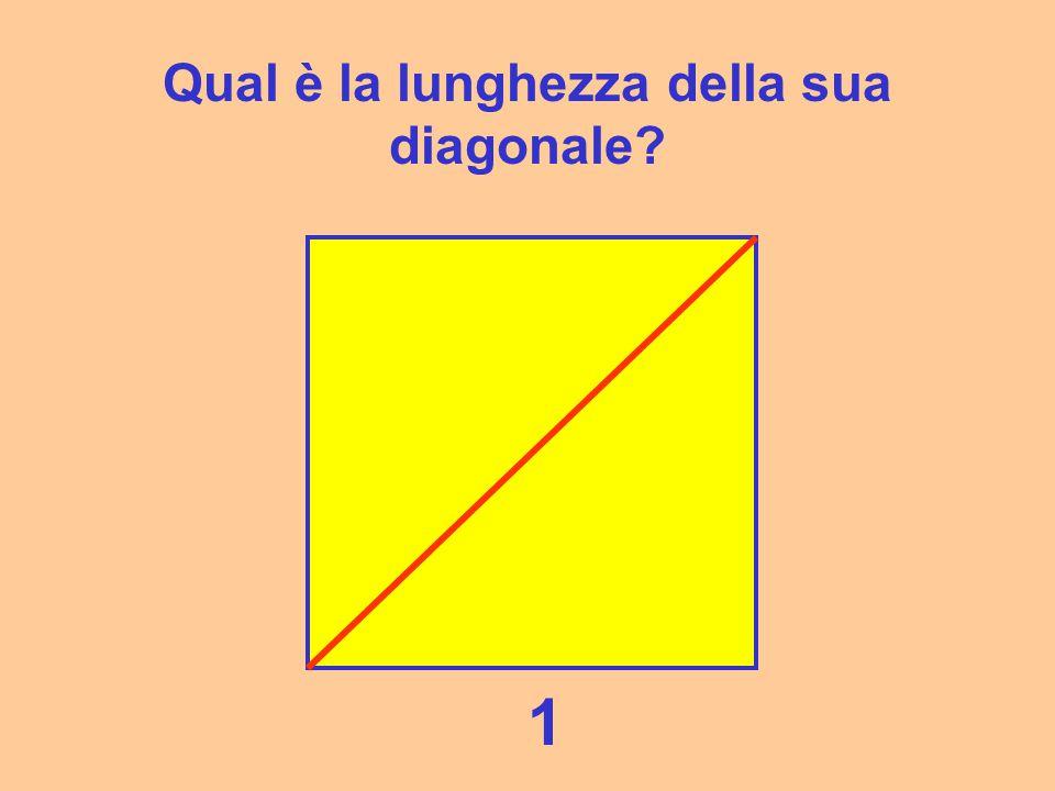 Qual è la lunghezza della sua diagonale