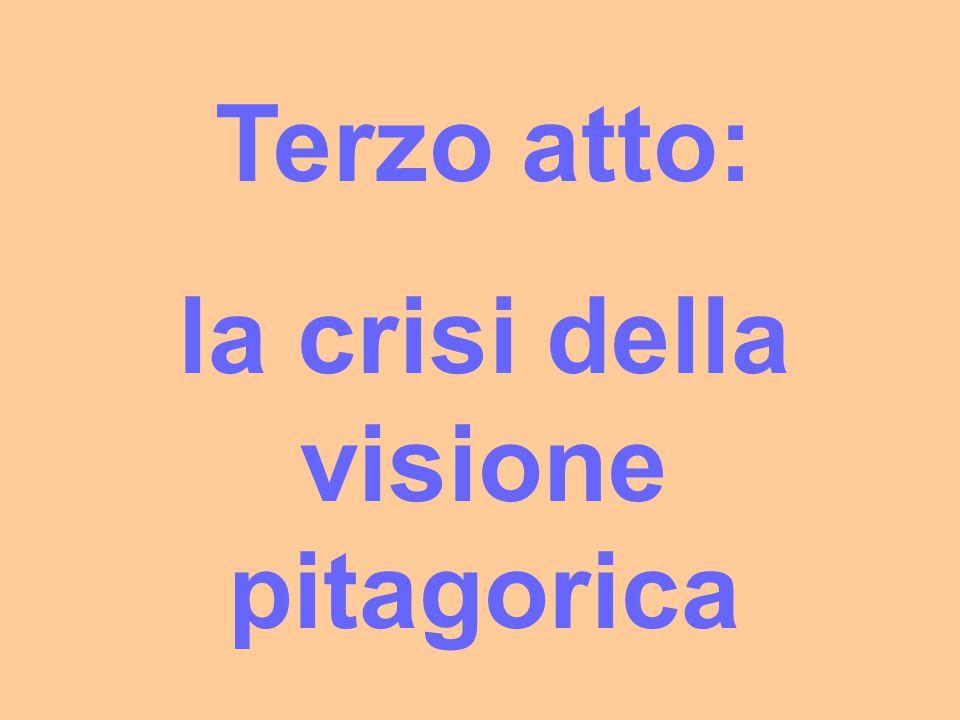 la crisi della visione pitagorica