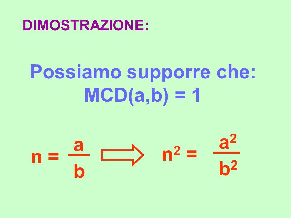 Possiamo supporre che: MCD(a,b) = 1