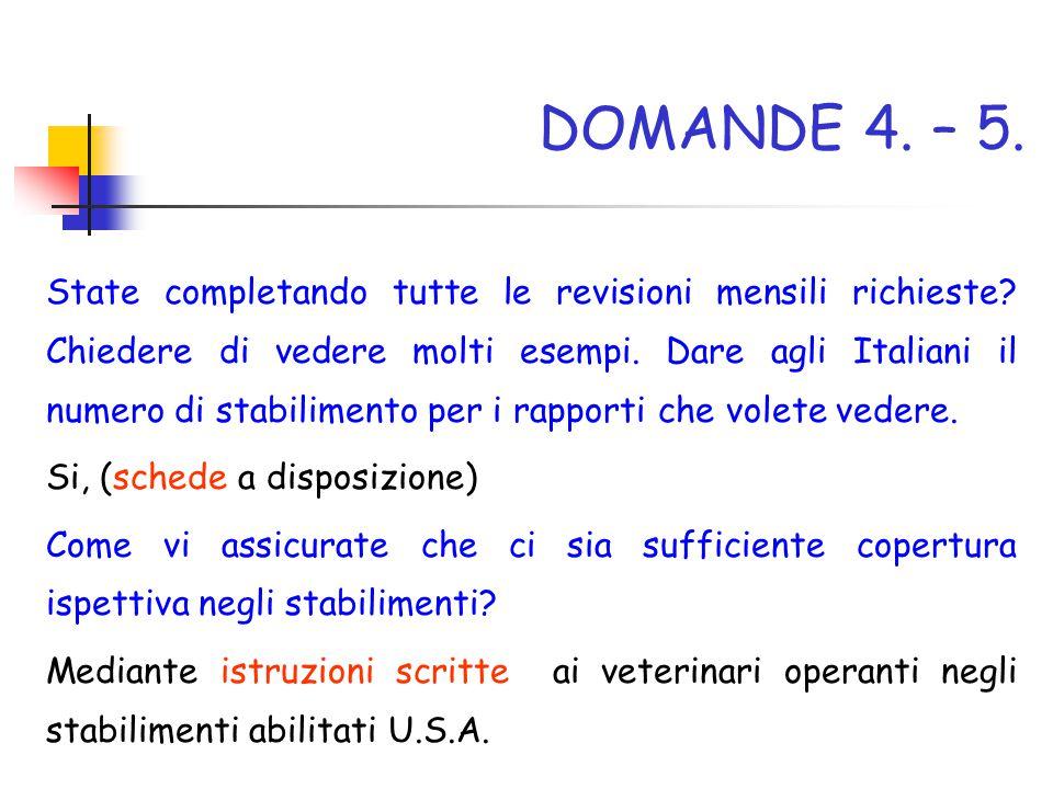 DOMANDE 4. – 5.