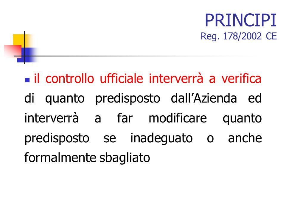 PRINCIPI Reg. 178/2002 CE