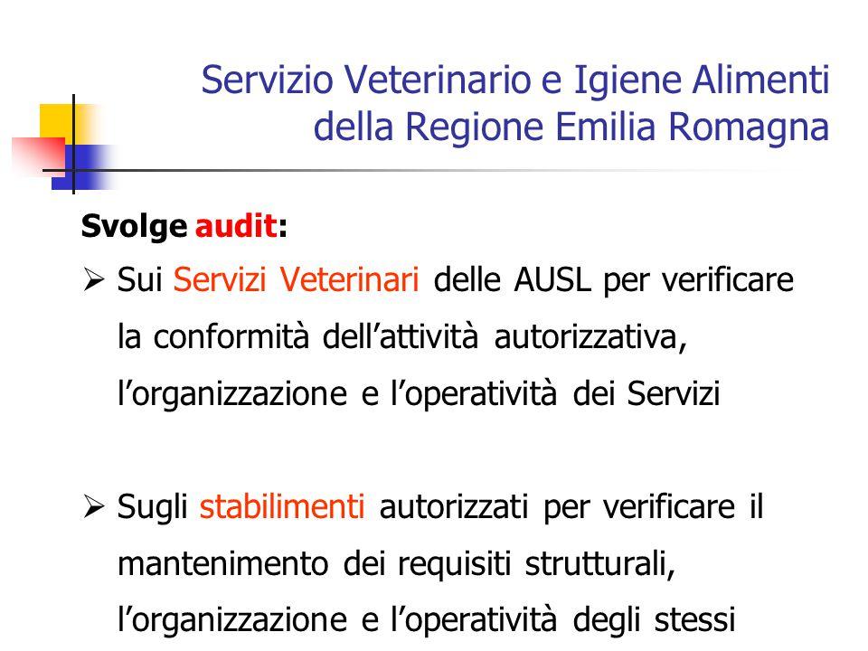 Servizio Veterinario e Igiene Alimenti della Regione Emilia Romagna