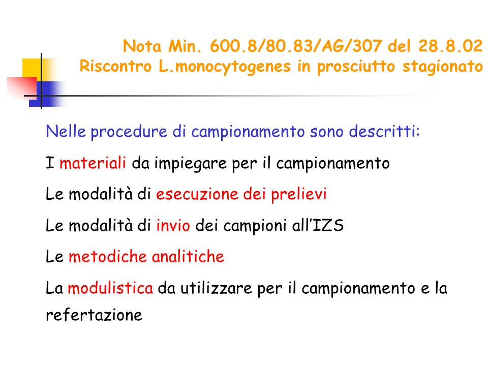 Nota Min. 600. 8/80. 83/AG/307 del 28. 8. 02 Riscontro L