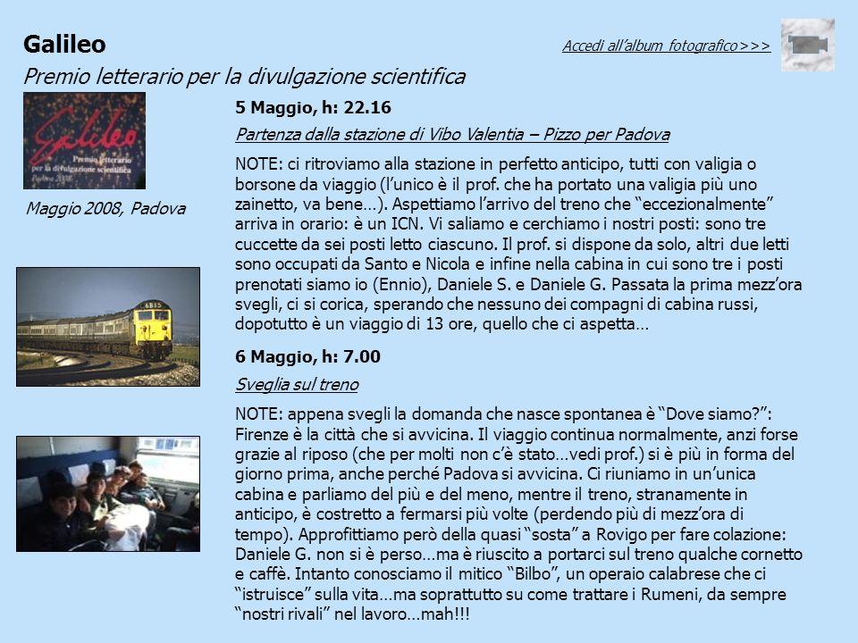 Partenza dalla stazione di Vibo Valentia – Pizzo per Padova