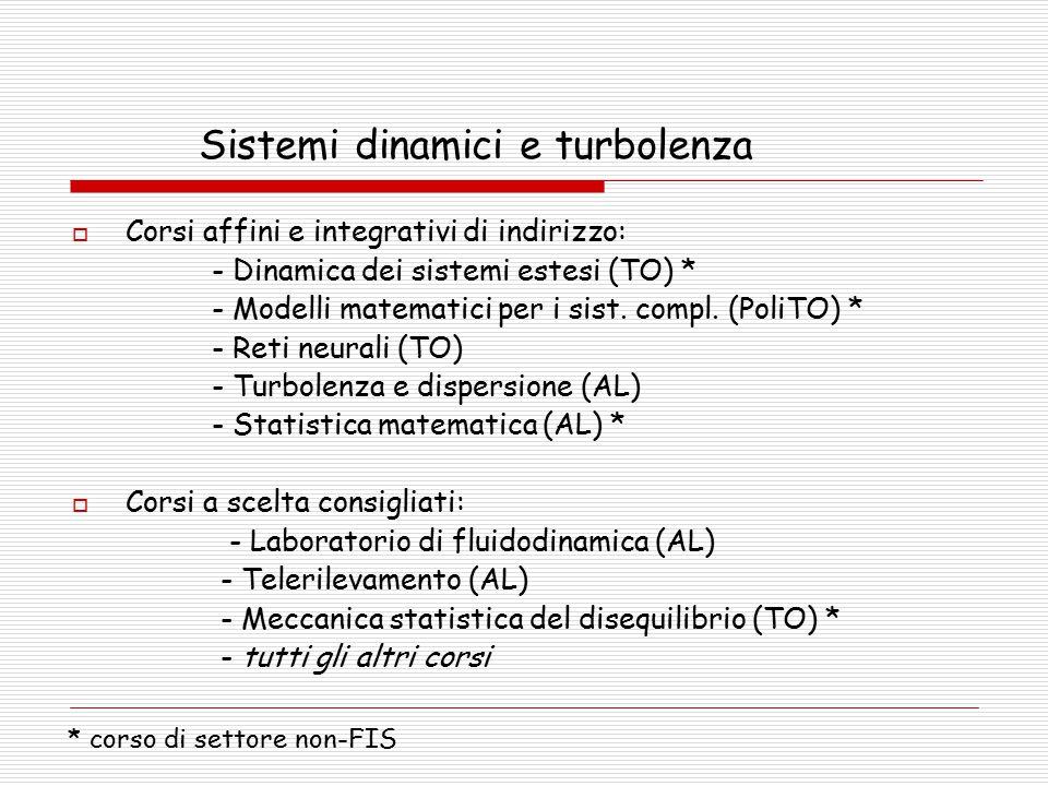 Sistemi dinamici e turbolenza